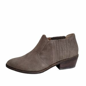 Lucky Brand Taupe Folley Suede Booties